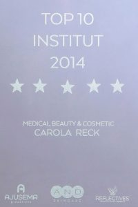 Carola Reck - Auszeichnung - Top Institut 2014