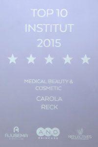 Carola Reck - Auszeichnung - Top Institut 2015